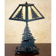 Meyda 27105 Pine Tree and Elk Table Lamp