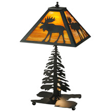 Meyda 27293 Lone Moose Table Lamp