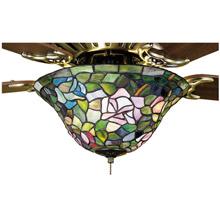 Meyda 27448 Tiffany Rosebush Fan Light Fixture