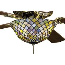 Tiffany ceiling fans and fanlight kits lamps beautiful meyda 27451 tiffany fishscale fan light fixture aloadofball Choice Image