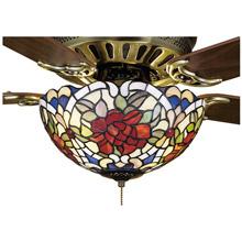 Tiffany ceiling fans and fanlight kits lamps beautiful meyda 27458 tiffany renaissance rose fan light fixture aloadofball Choice Image