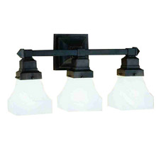 Craftsman/Mission Bathroom Vanity Lights - Lamps Beautiful