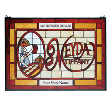 Meyda 28370 Tiffany Customizable Stained Glass Window