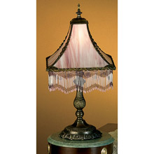 Merveilleux Meyda 28405 Fringed Table Lamp