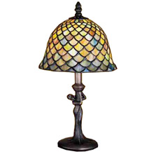 Meyda 30315 Tiffany Fishscale Mini Lamp