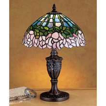Meyda 30343 Tiffany Cabbage Rose Accent Lamp