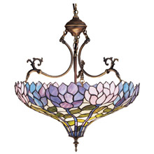 Meyda 30450 Tiffany Classic Wisteria Inverted Hanging Lamp