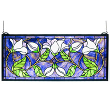 Meyda 30705 Tiffany Magnolia Stained Glass Window