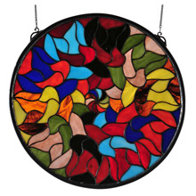 Meyda 32068 Tiffany Jeff Cohen Mandala Design Stained Glass Window