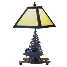 Meyda 32467 Pine Tree and Moose Table Lamp