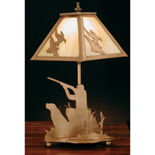 Meyda 32486 Ducks and Duck Hunter Table Lamp