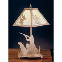 Meyda 32488 Ducks and Duck Hunter Mica Table Lamp