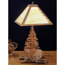 Meyda 32516 Pine Tree and Moose Table Lamp