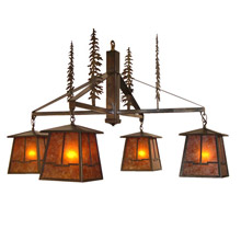 Meyda 32698 Tall Pines Valley View Four Light Chandelier
