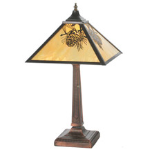 Rustic table lamps lamps beautiful meyda 32789 pine cone table lamp aloadofball Image collections