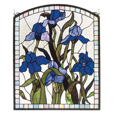Meyda 36074 Tiffany Iris Stained Glass Window