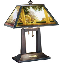 Meyda 37464 Maxfield Parrish Daybreak Lithophane Table Lamp