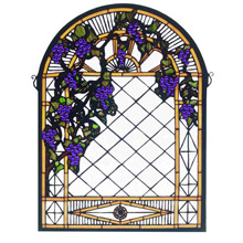 Meyda 38327 Tiffany Grape Diamond Trellis Window
