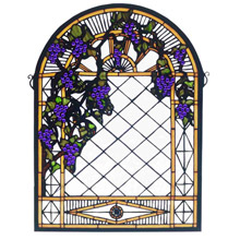 Meyda 38656 Tiffany Grape Diamond Trellis Window
