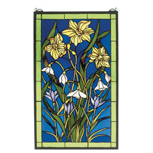 Meyda 38738 Tiffany Spring Bouquet Stained Glass Window