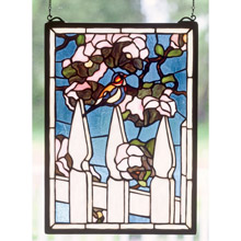 Meyda 48001 Tiffany Picket Fence Stained Glass Window