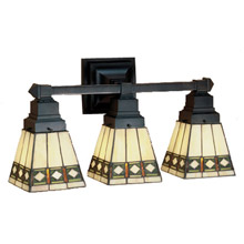 Craftsman Mission Bathroom Vanity Lights Lamps Beautiful