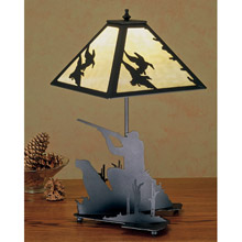 Meyda 50400 Ducks and Duck Hunters Table Lamp