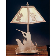 Meyda 50401 Ducks and Duck Hunters Table Lamp