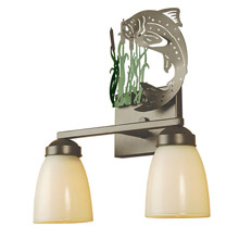 Meyda 51067 Leaping Trout Vanity Light