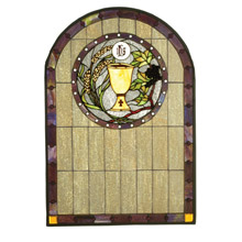 Meyda 51129 Tiffany Sacrament Stained Glass Window