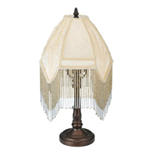 Merveilleux Meyda 51440 Arabesque Fringed Small Table Lamp
