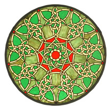 Meyda 51527 Tiffany Knotwork Trance Medallion Stained Glass Window