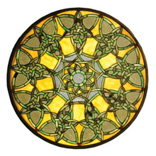 Meyda 51531 Tiffany Knotwork Trance Medallion Stained Glass Window
