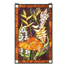 Meyda 51539 Floral Stained Glass Window