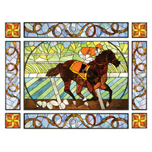 Meyda 51638 Tiffany Saratoga Nine Pieces Stained Glass Window