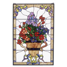 Meyda 51721 Tiffany Floral Arrangement Stained Glass Window