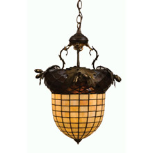 Meyda 51850 Greenbriar Oak Inverted Pendant