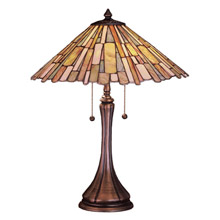 Meyda 52158 Tiffany Jadestone Delta Table Lamp