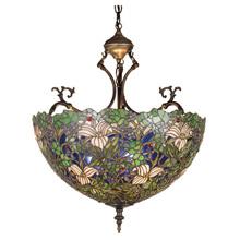 Meyda 52187 Tiffany Trillium & Violet Inverted Pendant