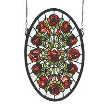 Meyda 66005 Tiffany Oval Roses Window