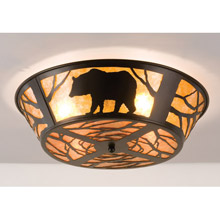 Meyda 66209 Bear On The Loose Flush Mount Ceiling Fixture