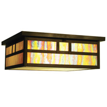 Meyda 66327 Hyde Park Double Bar Flush Mount Ceiling Fixture
