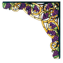 Meyda 67141 Tiffany Jeweled Grape Stained Glass Corner Bracket