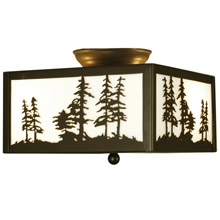 Meyda 67341 Tall Pines Flush Mount Ceiling Fixture