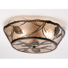 Meyda 67400 Whispering Pines Flush Mount Ceiling Fixture