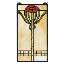 Meyda 67789 Tiffany Parker Poppy Stained Glass Window