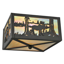 Meyda 68282 Moose At Lake Flush Mount Ceiling Fixture