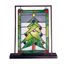 "Meyda 69658 Christmas Tree 9.5""W X 10.5""H Lighted Mini Tabletop Window"