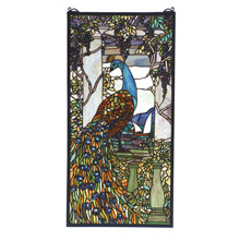 Meyda 70519 Tiffany Peacock Stained Glass Window