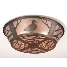 Meyda 70702 Northwoods Duck Flush Mount Ceiling Fixture